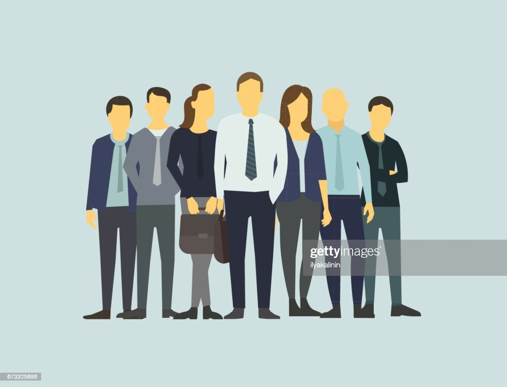 Company business group people of office clerks