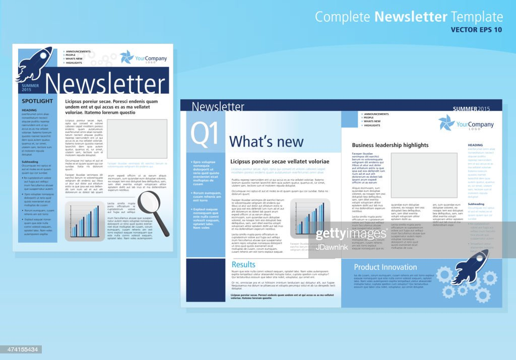 Company business newsletter cover and inside layout design flyer company business newsletter cover and inside layout design flyer template vector art spiritdancerdesigns Image collections