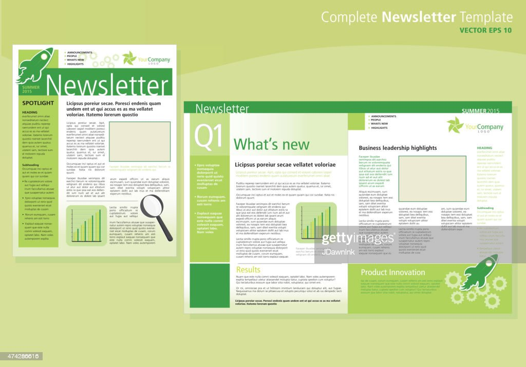Company green business newsletter cover and inside layout design company green business newsletter cover and inside layout design template vector art spiritdancerdesigns Image collections
