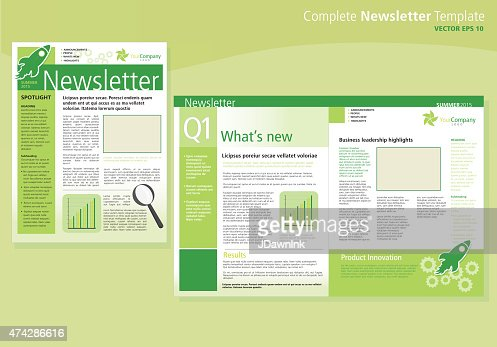 Company green business newsletter cover and inside layout design company green business newsletter cover and inside layout design template vector art getty images spiritdancerdesigns Images