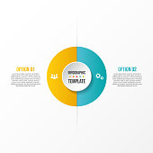 Company infographic template with business icons. Vector