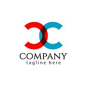 CC Company Logo Letter Vector Template Design Illustration