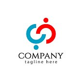 CC Company Logo Vector Template Design Illustration