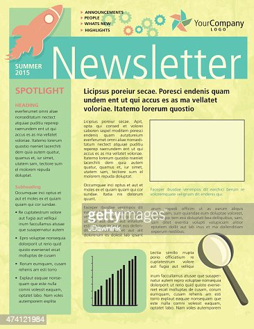 Company Newsletter Design Flyer Template Vector Art  Getty Images
