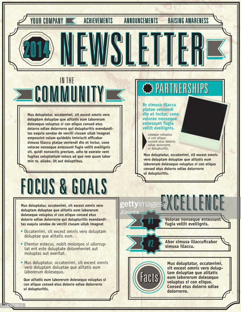 Company Newsletter design layout flyer template