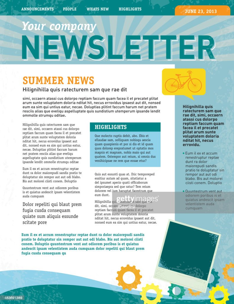 free enewsletter templates - company newsletter design template vector art getty images