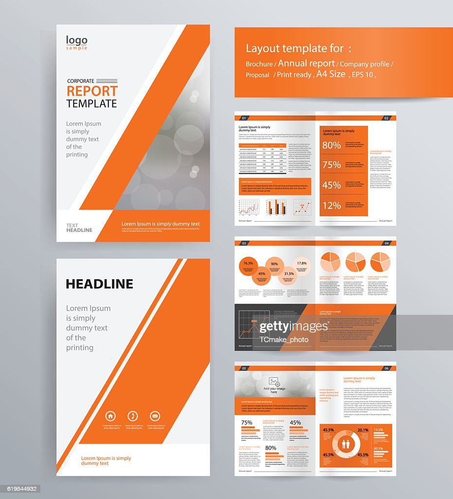 company profile, annual report, brochure, and  template