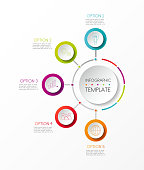 Company timeline - colourful infographic. Vector.