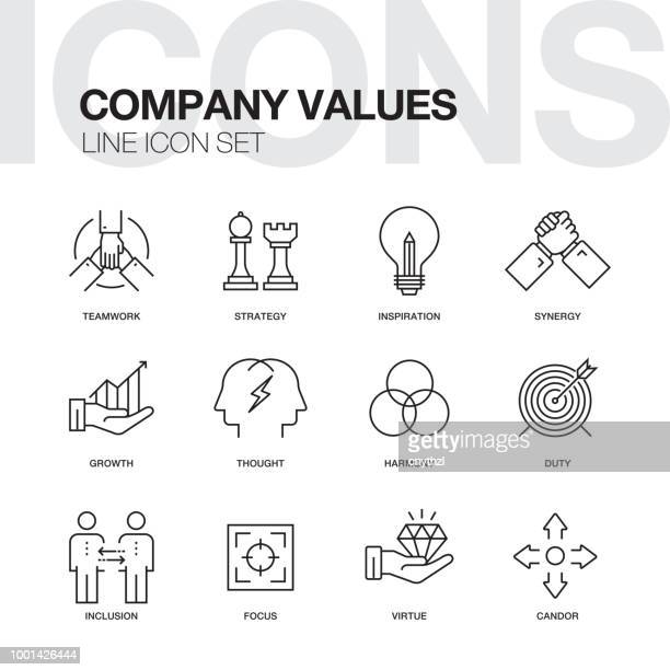 Company Values Line Icons