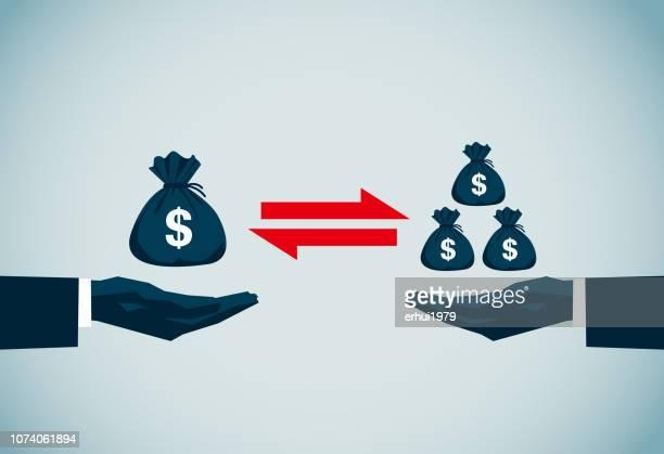 comparison - unfairness stock illustrations