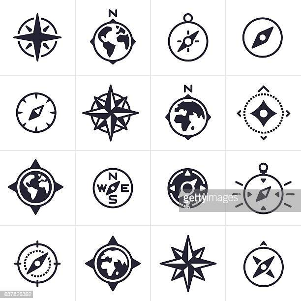 Compass and Map Navigation Icons and Symbols