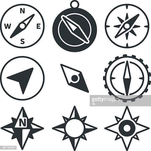 Compass and Navigation Icons