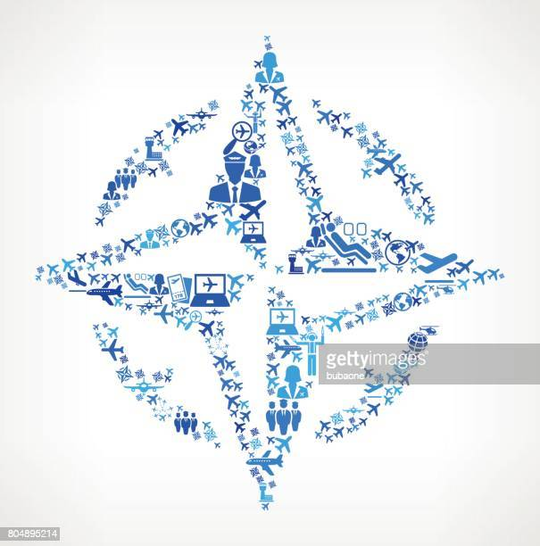 Compass  Aviation and Air Planes Vector Graphic