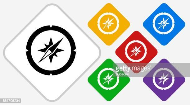Kompass Farbe Diamant Vektor Icon
