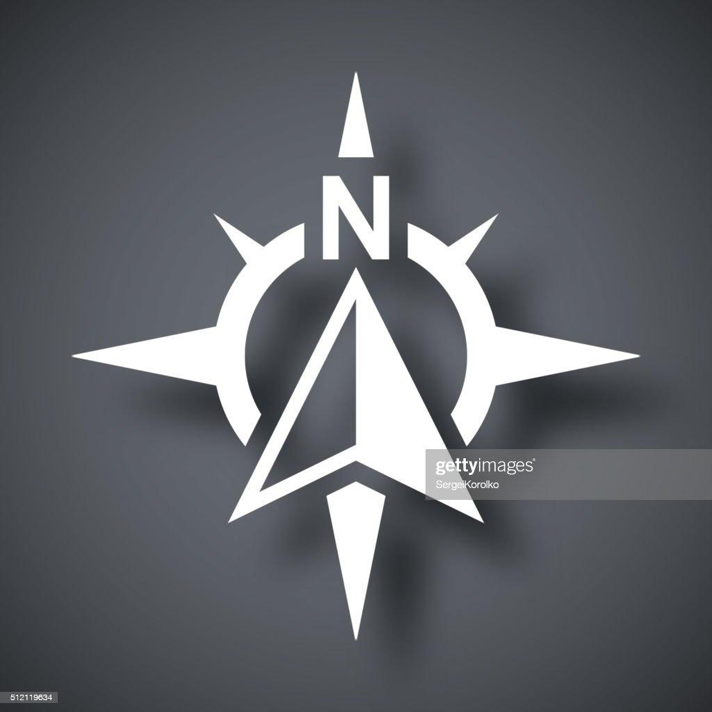 Compass concept icon, vector