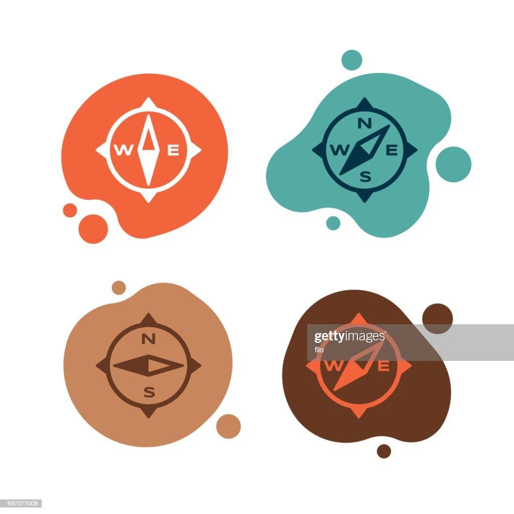 Compass Direction Symbols : stock illustration