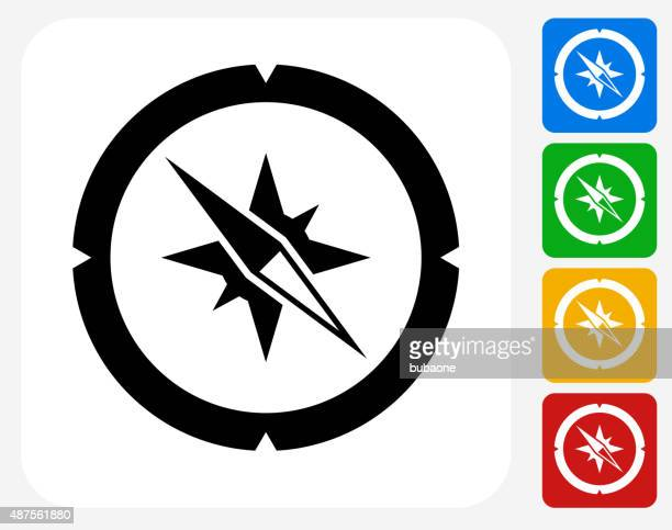 Compass Icon Flat Graphic Design