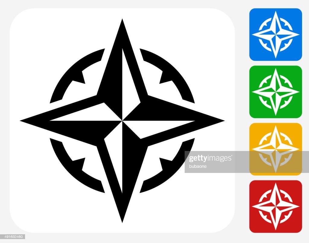 Compass Icon Flat Graphic Design