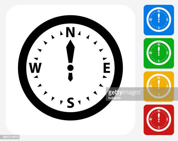 Kompass-Symbol flache Grafik Design