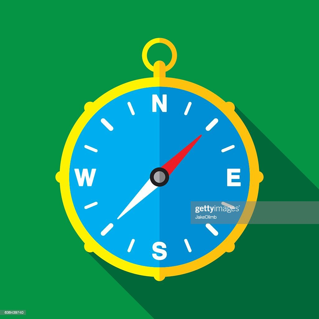 Compass Icon Flat : stock illustration