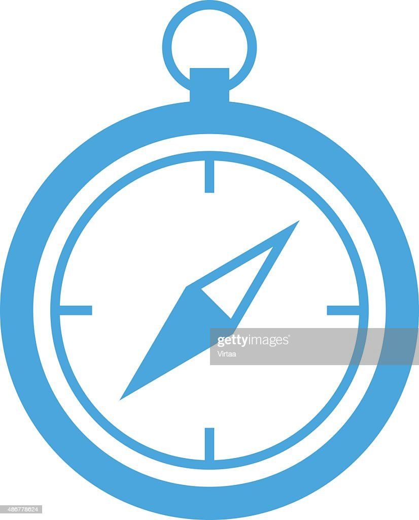 Compass icon, modern minimal flat design style, vector illustration