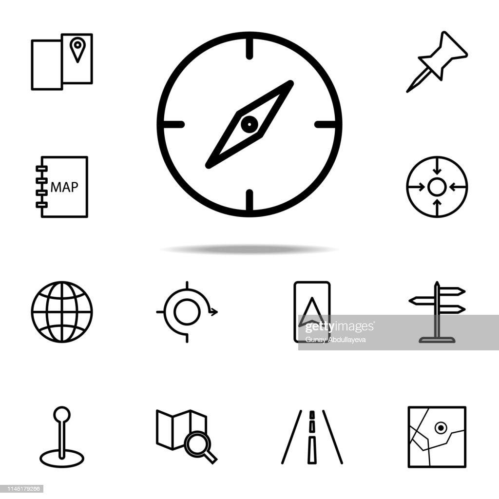 compass icon. Navigation icons universal set for web and mobile