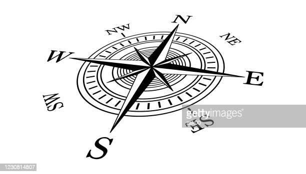 コンパスアイコン - 円形方位図点のイラスト素材/クリップアート素材/マンガ素材/アイコン素材