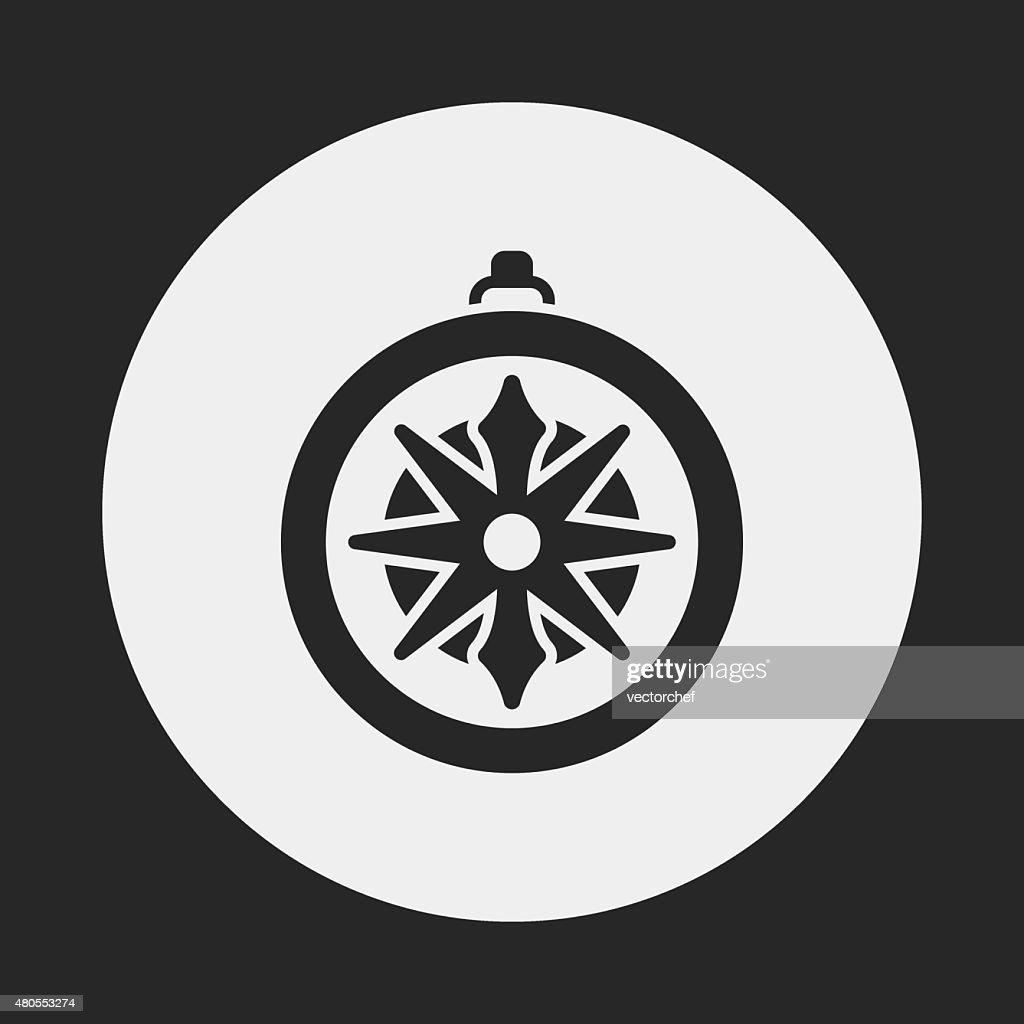 Bússola ícone de : Arte vetorial