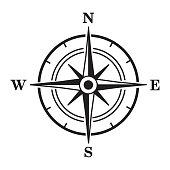 Compass icon. Vector illustration