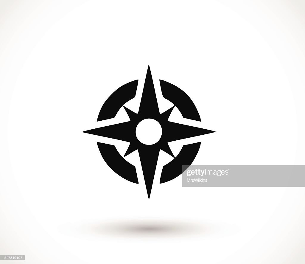 Compass icon vector illustration
