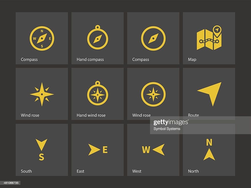 Compass icons.