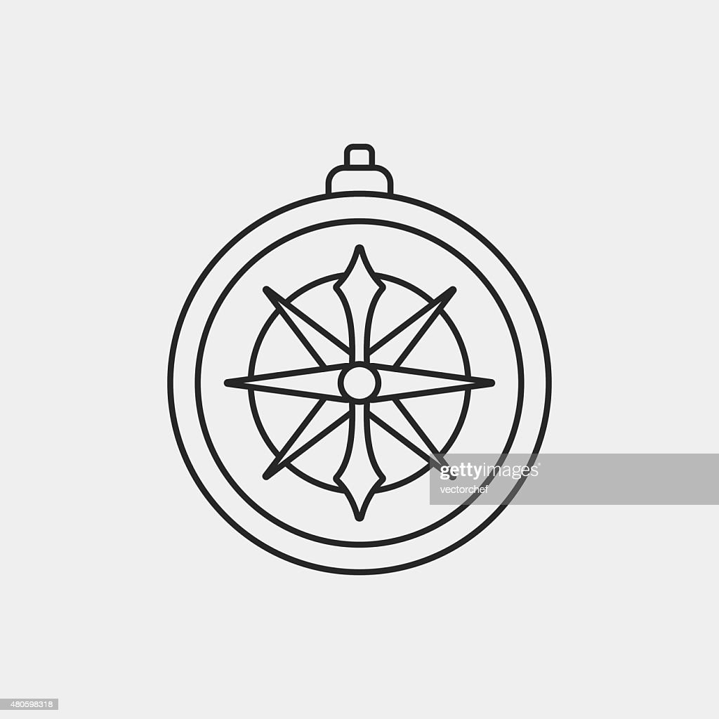 compass line icon : Vector Art