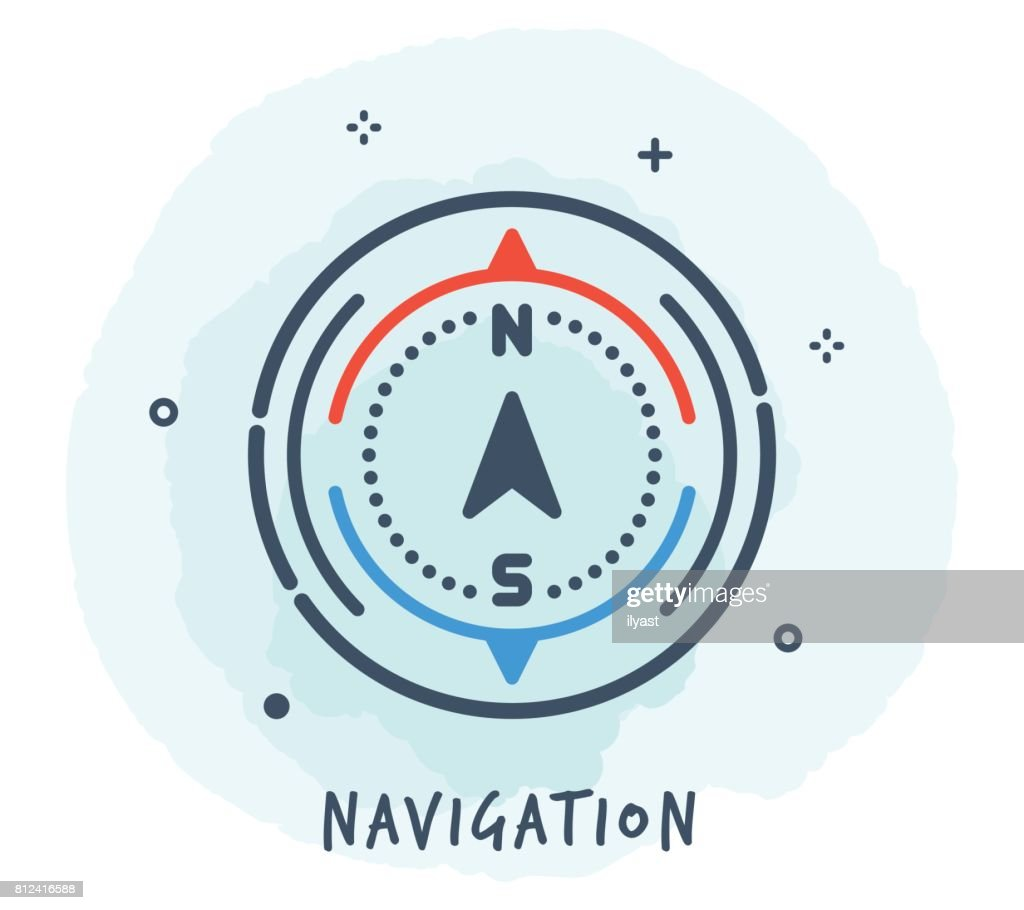 Compass Line Icon