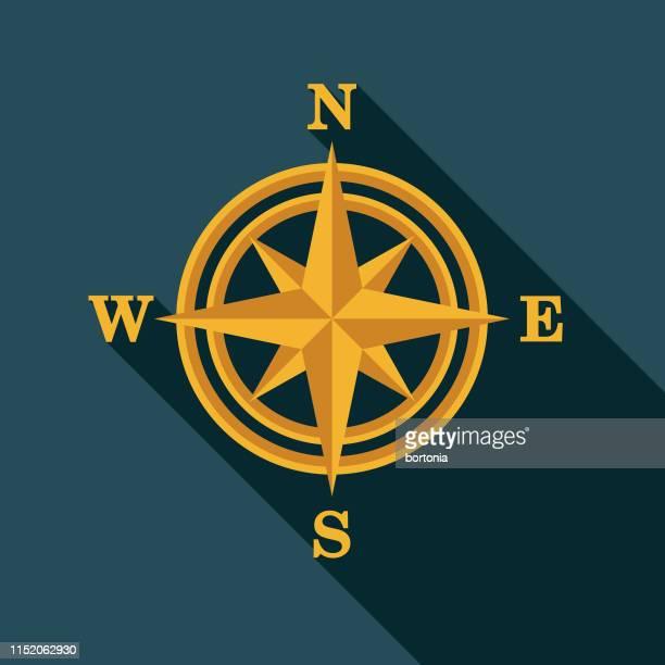 compass map icon - north stock illustrations