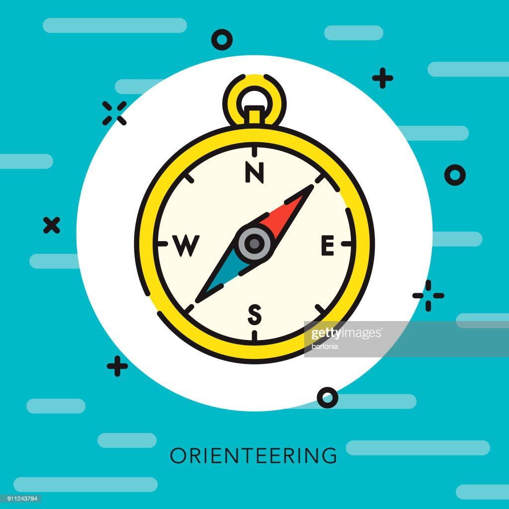 Compass Open Outline Travel Icon : stock illustration
