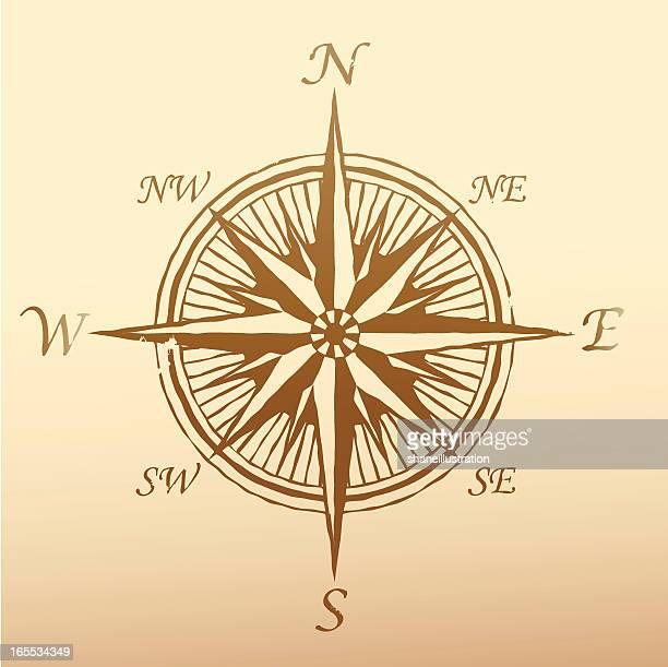 compass rose ancient - ancient stock illustrations, clip art, cartoons, & icons