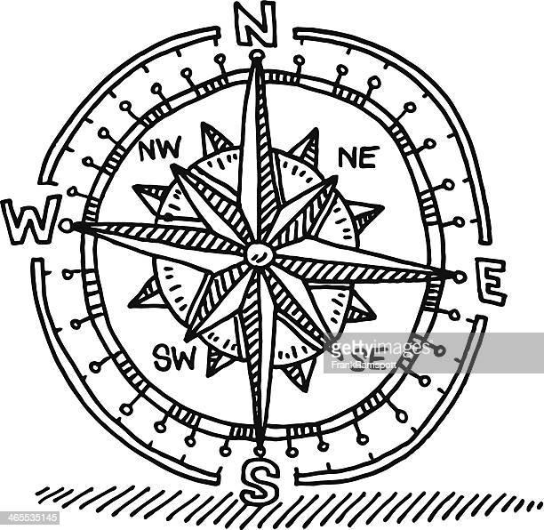 コンパスローズの絵 - 円形方位図点のイラスト素材/クリップアート素材/マンガ素材/アイコン素材