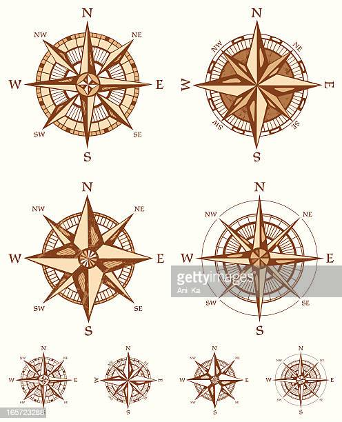 コンパスローズ」 - 円形方位図点のイラスト素材/クリップアート素材/マンガ素材/アイコン素材