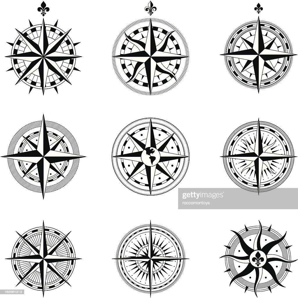 Compass Rose : stock illustration