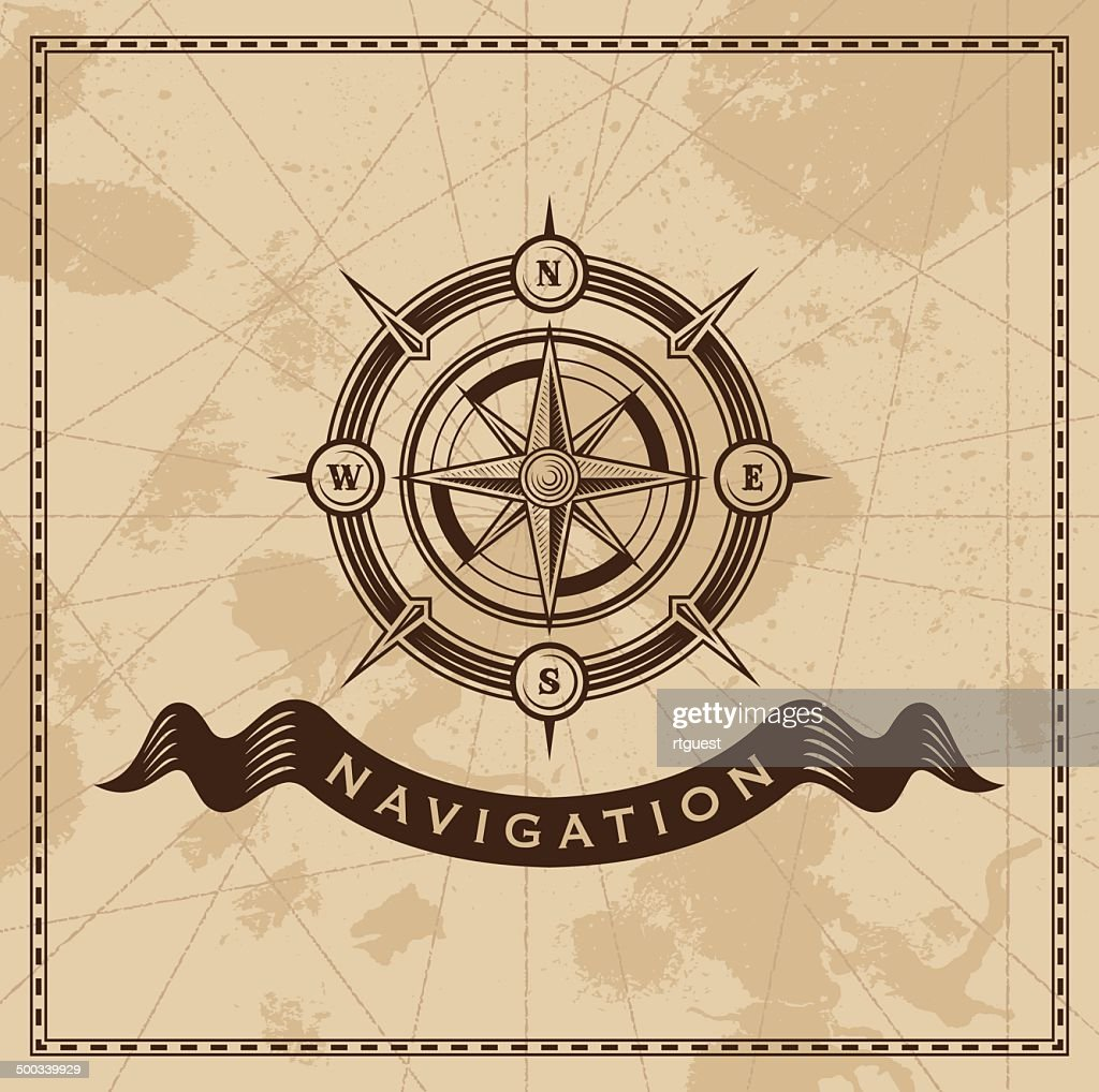Compass rose - Vintage vector design