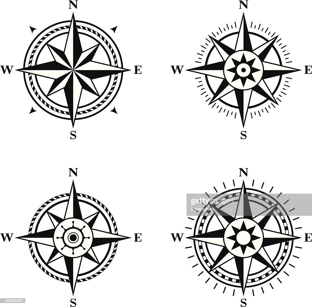 Compass roses : stock illustration