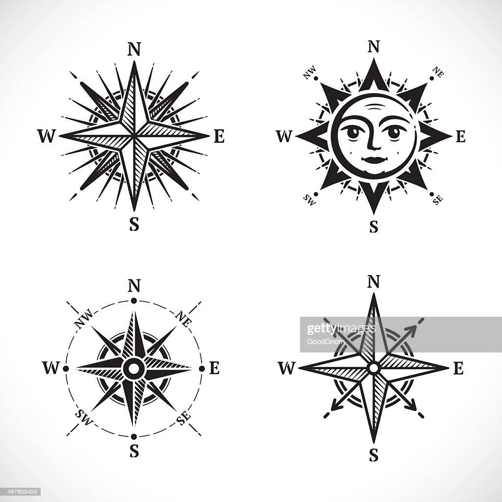 Compass set : Stockillustraties