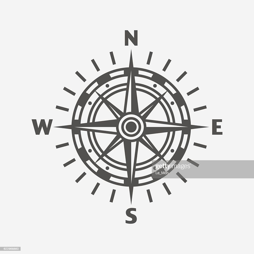Compass. Wind rose