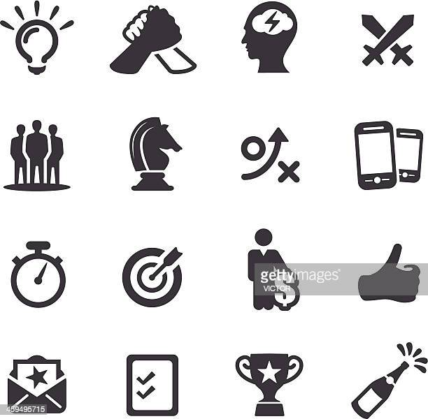 competition and match icons - acme series - competitive sport stock illustrations, clip art, cartoons, & icons