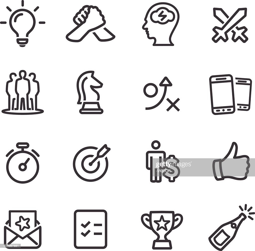 Competition and Match Icons - Line Series : stock illustration