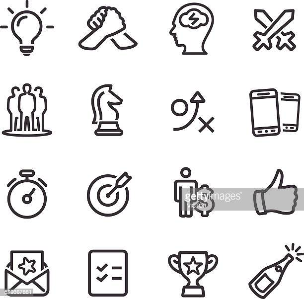 competition and match icons - line series - match sport stock illustrations, clip art, cartoons, & icons