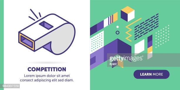 competition banner - match sport stock illustrations, clip art, cartoons, & icons