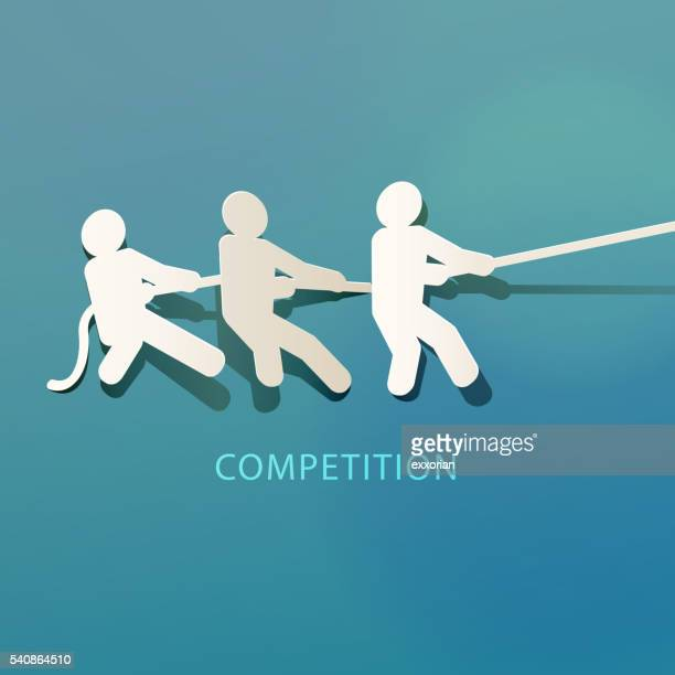 competition concept paper cut - sportsperson stock illustrations