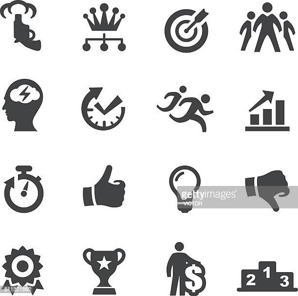 competition icons - acme series - motivation stock illustrations, clip art, cartoons, & icons