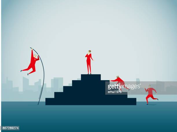 competition - pole vault stock illustrations